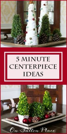 5 Minute Christmas Centerpiece Ideas | Quick and easy inspiration that can be used year round and for any occasion. Lots of examples! #sponsored
