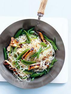 plum and ginger chicken with noodles