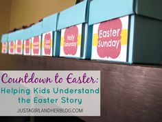 DIY activity to help kids understand Lent, Holy Week and Easter | Just a Girl and her Blog