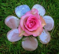 Rose Quartz palm stone - The Gem of True Love - Heart chakra and empathic work