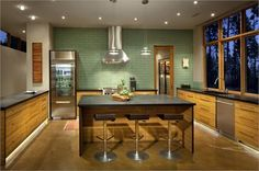 Elegant Contemporary Kitchen by Hunter Dominick