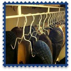 DIY Shoe Hangers!