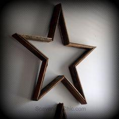 Pottery Barn Inspired, Reclaimed Wood Star diy |
