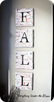 Fall Letter Tiles