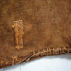 Antique Japanese Boro Sakabukuro Sake Bag