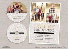 Holiday Mini Session Flyer cd labels by OtoStudio on Creative Market