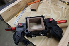 Wooden Puzzle Box : 22 Steps (with Pictures) - Instructables Wooden Puzzle Box, Wooden Puzzles, Wooden Boxes, Woodworking Jewellery Box, Mind Puzzles, Magic Box, Pictures, Clamp, Spin