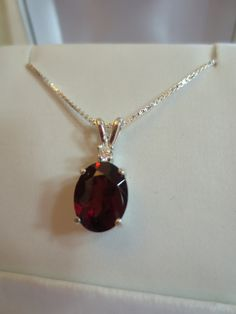Red Garnet with Full Cut Brilliant diamond by RLGemstoneElegance, $199.00