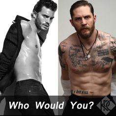 Who Would You? Jamie Dornan or Tom Hardy