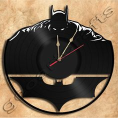 Murale horloge Batman No2 Vinyl Record décoration par geoartcrafts