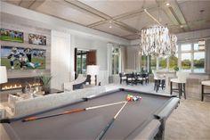 Club room design by John Balistreri, Bali Design Group. Interior furniture design by Marc-Michaels Interiors.