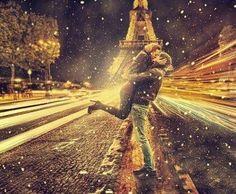 Paris.  Couple in love.  Beautiful.