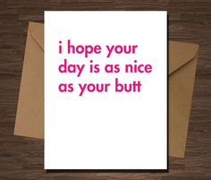 Valentines Card MATURE Funny Valentine Inappropriate Card