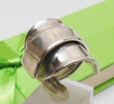 Schlichter Besteck-Silberring Gr. 22,8 mm SR465 von Atelier Regina auf DaWanda.com
