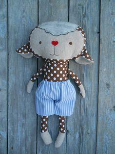 Lamb plush soft toy lamb softie fabric toy 50cm/19 by LaLobaStudio