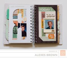 Alexes Brown - Carte Postal Mini Basic Grey, Mini Albums, Cart, Brown, Covered Wagon, Brown Colors, Extended Play, Mini Scrapbooks, Strollers