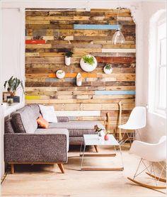 Tận dụng pallet trang trí tường nhà thêm xinh  Emdep.vn