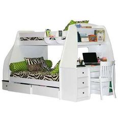 Cool teenage friendly loft bed with futon AND desk