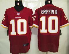 Nike NFL Washington Redskins 10 Griffin Iii Red Elite Jerseys. discount  wholesale nfl jerseys a0da61674