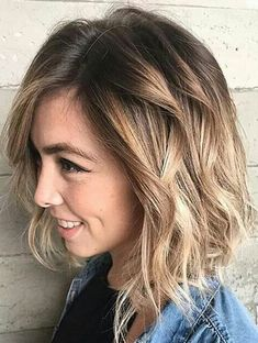 Medium Hairstyles for Winter-Spring 2018 Brunette to Blonde Ombre