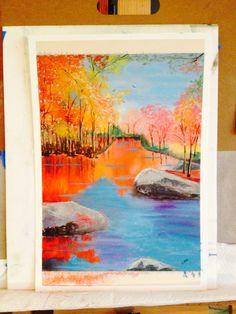 Autumn Fantasy; soft pastel over watercolor