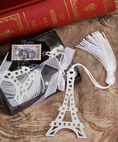 """""""From Paris with Love Collection"""" Eiffel Tower bookmark favors...just ordered…"""