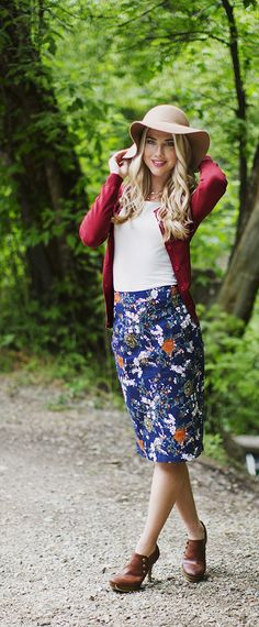 Floral Pencil Skirt [MSS1489] - $32.99 : Mikarose Boutique, Reinventing Modesty