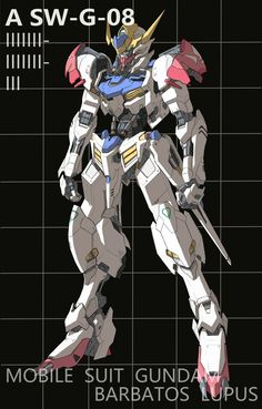 Arte Gundam, Gundam Art, Gunpla Custom, Custom Gundam, Character Concept, Character Design, Barbatos Lupus, Blood Orphans, Gundam Iron Blooded Orphans
