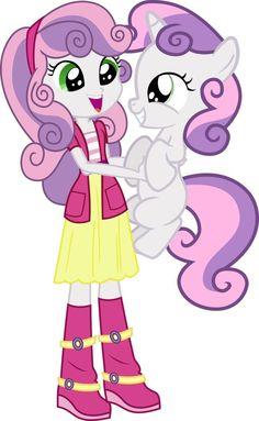 Sweetie belle, Equestria girls & pony