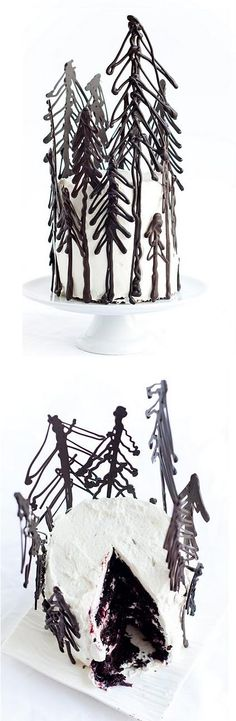 Blackest Forest Gâteau. Designed by Stephanie Shih. What a creative spin on the traditional black forest cake!