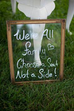 ceremony sign | Stephanie Fay #wedding