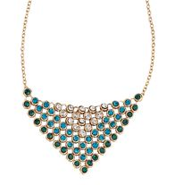 """AVON RHINESTONE OMBRE MESH NECKLACE - Rhinestones set in goldtone. Pendant, 2 1/2"""" :L.  Available at www.youravon.com/jfreemyers"""