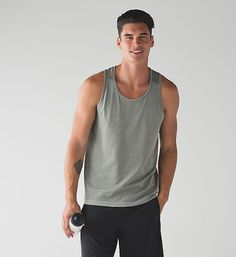 Lululemon Men's silver tech tank in several of the color options- M