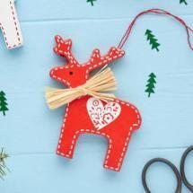 Nordic Red Reindeer Decoration