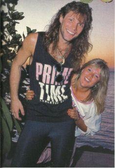 Jon Bon Jovi and Samantha Foxx - November 1986. Don't Touch Him!