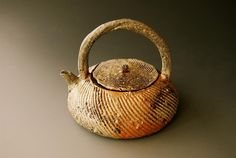 Akira Satake - woodfired 27 ( tea pot ) 5.5 x 6 x 6 inches