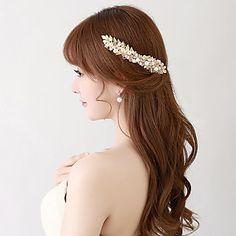 Femme / Jeune bouquetière Alliage / Imitation de perle Casque-Mariage / Occasion spéciale Fleurs / Pique cheveux 2 Pièces de 4765859 2016 à €21.55