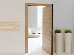Space-Saving Double-Swing Doors Pivot on Hidden Hinges Pivot Doors, Sliding Closet Doors, Sliding Barn Door Hardware, Front Doors, Bedroom Door Design, Bedroom Doors, Internal Wooden Doors, Wood Doors, Barn Doors