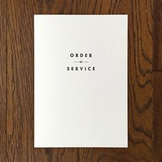 Image of Shelby: Order of service Wedding Stationery, Wedding Invitations, Order Of Service, Wedding Things, Letterpress, Booklet, Invites, Stationary, Cards Against Humanity