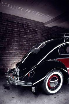 VW beetle Red over black Bug.... ♠ VW beetle # slammed beetle # clean whip ♠... X Bros Apparel Vintage Motor T-shirts, VW Beetle & Bug T-shirts, Great price