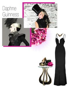 """Daphne Guinness inspired"" by ruby90 ❤ liked on Polyvore featuring INC International Concepts, Daphne, Hervé Léger, Warehouse, Currey & Company, Chanel and Alberto Moretti"