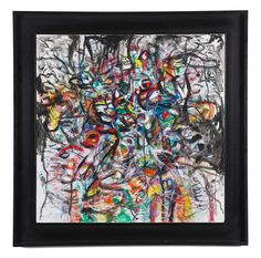 """Acrylic on a Masonite panel 24"""" x 24"""" (30"""" x 30"""" framed) 2000 Abstract Art, Frame, Painting, Picture Frame, Painting Art, Paintings, Frames, Painted Canvas, Drawings"""