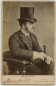 Earl of Fife, who married Princess Louis of Wales. This portrait was photographed in the late Earl of Fife, who married Princess Louis of Wales. This portrait was photographed in the late Antique Photos, Vintage Pictures, Vintage Photographs, Old Pictures, Vintage Images, Old Photos, Victorian Gentleman, Victorian Men, Vintage Gentleman