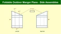 How To Build An Outdoor Manger