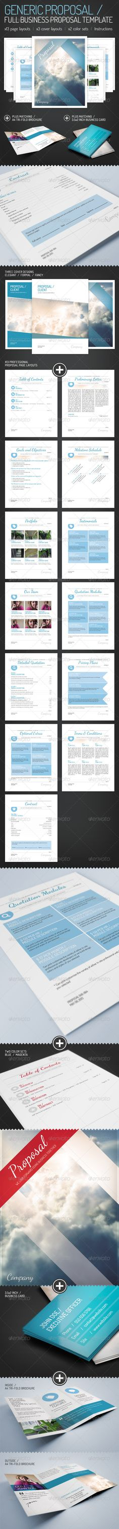 Generic Proposal - Full Business Proposal Template - GraphicRiver Item for Sale