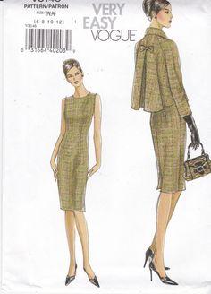 Vogue Sewing Pattern 8146 Sleeveless Dress by Ziatacraft on Etsy