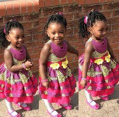 Ankara Styles For Kids, African Dresses For Kids, African Babies, Latest African Fashion Dresses, African Print Fashion, African Outfits, African Wear, African Prints, Chitenge Dresses