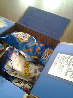 "Blue Without You Care Package This would be cute after the ""orange"" you glad package..."
