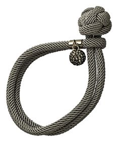 Seraphina Gray Rope Knot Bracelet $50