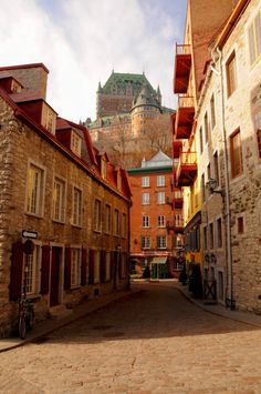 Quebec City, Quebec, Canada.  I would love to visit again.  Last time it was incredibly beautiful.  It was snowing!